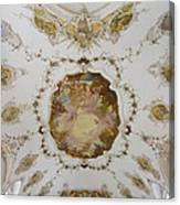 Nesselwang Church Ceiling And Organ Canvas Print