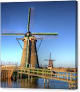 Netherlands, Kinderdijk, Sunrise Canvas Print