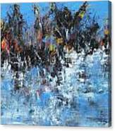 Neve In Riva A Lago Canvas Print