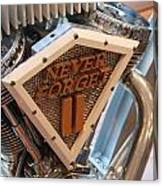 Never Forget Motorcycle Canvas Print