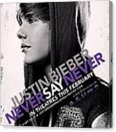Never Say Never 2 Canvas Print