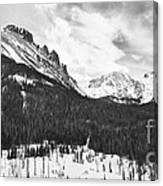 Never Summer Wilderness Area Panorama Bw Canvas Print