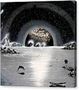 New Age Moonset Canvas Print