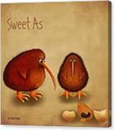 New Arrival. Kiwi Bird - Sweet As - Boy Canvas Print