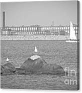 New Bedford Massachusetts Black White Canvas Print