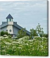 New Church In Ninilchik-ak  Canvas Print