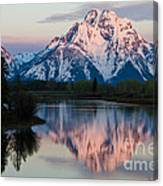 New Day Of Peace In Teton National Park Canvas Print