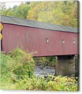 New England Covered Bridge Canvas Print