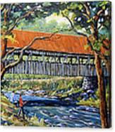 New England Covered Bridge By Prankearts Canvas Print