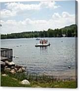 New England Lake Vacation Canvas Print
