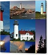 New England Lighthouse Collection Canvas Print