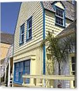 New England Style Building At Fisherman's Village Marina Del Rey Los Angeles Canvas Print