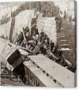 New England Train Wreck Canvas Print