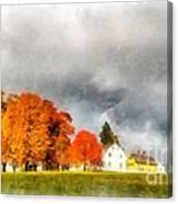 New England Village Canvas Print