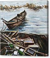 New England Wharf Canvas Print