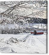 New England Winter Farms Canvas Print