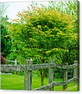 New England Wooden Fence Canvas Print
