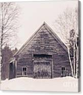 New Hampshire Barn In Black And White Canvas Print