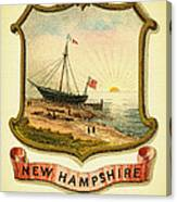 New Hampshire Coat Of Arms - 1876 Canvas Print