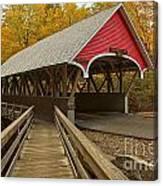 New Hampshire Covered Bridge Canvas Print