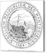 New Hampshire State Seal Canvas Print