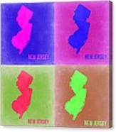 New Jersey Pop Art Map 2 Canvas Print