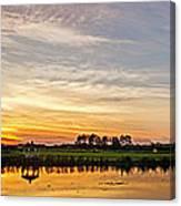 New Jersey Sunset Panoramic Canvas Print