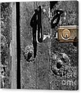 New Lock On Old Door 2 Canvas Print