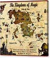 New Map Of The Kingdoms Of Magic Canvas Print