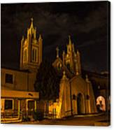 New Mexico Church Night Canvas Print