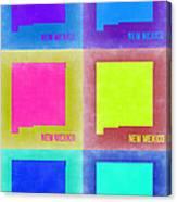 New Mexico Pop Art Map 2 Canvas Print