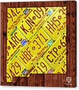 New Mexico State License Plate Map Canvas Print