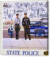 New Mexico State Police Poster Canvas Print