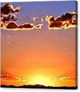New Mexico Sunset Glow Canvas Print