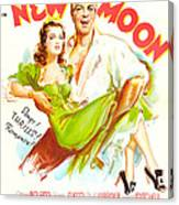 New Moon, Us Poster, Nelson Eddy Canvas Print