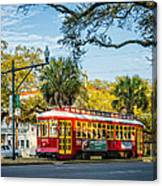 New Orleans - Canal St Streetcar 2 Canvas Print
