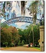 New Orleans City Park - Pizzati Gate Entrance Canvas Print