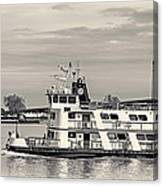 New Orleans Ferry Bw Canvas Print