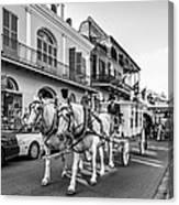 New Orleans Funeral Monochrome Canvas Print