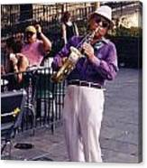 New Orleans Musician Canvas Print