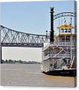New Orleans River Boat Canvas Print