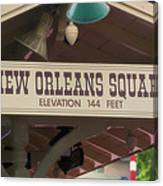 New Orleans Signage Disneyland Canvas Print