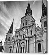 New Orleans St Louis Cathedral Bw Canvas Print