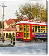 New Orleans Streetcar Paint Canvas Print