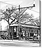 New Orleans Streetcar Silhouette Canvas Print