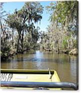 New Orleans - Swamp Boat Ride - 1212122 Canvas Print