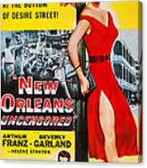 New Orleans Uncensored, Us Poster, Top Canvas Print