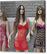 Sex Sells Mannequins In Lingerie In Downtown Los Angeles  Canvas Print