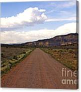 Red Road From The Benedictine Abbey Of Christ In The Desert New Mexico  Canvas Print