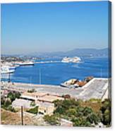 New Port Corfu Canvas Print
